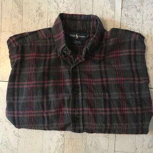 Ralph Lauren Button-Down Polo Mens Casual Flannel